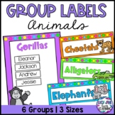 Reading Group Labels | Table Signs | Animals