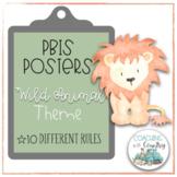 Wild Animal Theme PBIS Posters