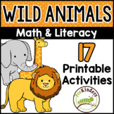 Wild Animal Theme Printable Activities Pre-K, Preschool, Kinder (Zoo, Safari)
