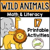 Wild Animal Theme Printable Activities Pre-K, Preschool, K