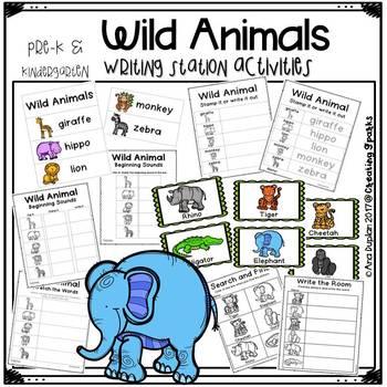 Wild Animal Writing Station