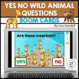 Wild Animal YES - NO Questions  Digital and Printable BOOM CARDS