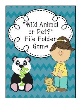 Wild Animal or Pet File Folder Game and Worksheet