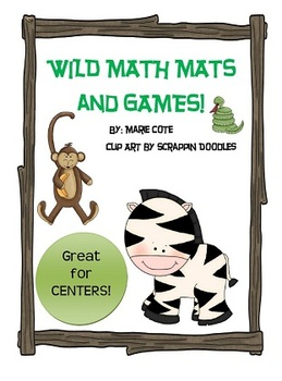 Wild Animal/Jungle Math Mats and Posters