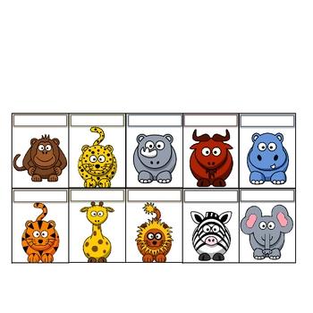 Wild Animal/Safari/Jungle Theme Class Job Chart