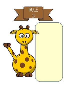 Wild Animal/Safari/Jungle Theme Class Rules Poster Set