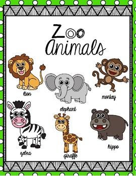 ZOO ANIMALS K-1