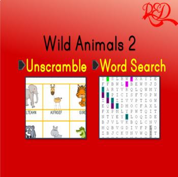 Wild Animals Word Search 2