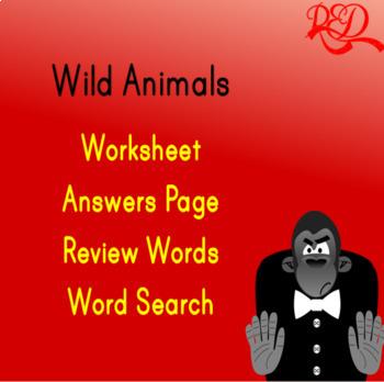 Wild Animals Word Search