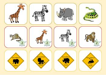 Wild Animals Adventure - sighe word game