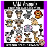 Wild Animals Clip Art | Squishies Clipart