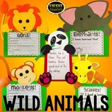 Wild Animals Craft Bundle (elephant, lion, panda, monkey, giraffe)