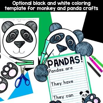 Wild Animals Craft Bundle (elephant, lion, panda, monkey, giraffe)