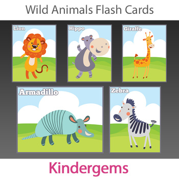 Wild Animals Flash Cards; Kindergarten; Preschool; Homeschool; Bulletin Board