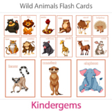 Wild Animals Flash Cards; Kindergarten; Preschool; Homesch
