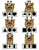 Wild Animals Shape Clip Cards - Match the Shape