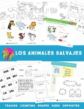 Wild Animals  {Spanish Bundle}