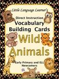 ESL Vocabulary/Conversation Cards-Wild Animals for Primary