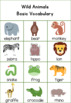 Wild Animals in English for Kindergarten and 1st. Grade