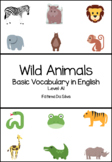 Wild Animals in English for Kindergarten and 1st. Grade