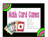 Wild Cards: Jumbo deck, Uno, Match, War, Go Fish, Crazy Eights.
