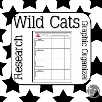 Wild Cats PebbleGo Graphic Organizers