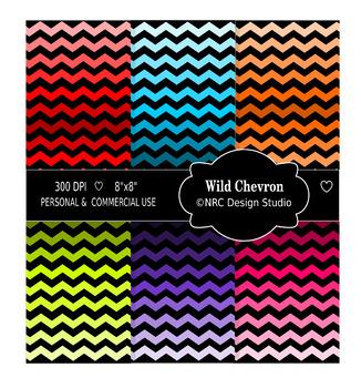 Wild Chevron Paper Pack