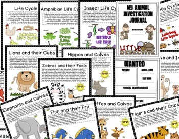 Animal Babies Life Cycles: Writing Prompts, Printables, and More Activities