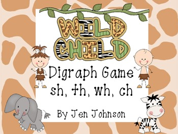 """""""Wild Child""""- Digraphs Game sh, ch, wh, th"""