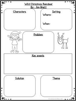 Wild Christmas Reindeer Book Companion:  Comprehension Activities