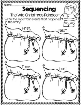 THE WILD CHRISTMAS REINDEER - Graphic Organizers for Book Study