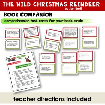 Wild Christmas Reindeer | Jan Brett | Reader Response Pages | Book Companion