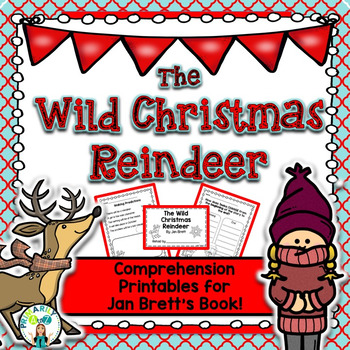 wild christmas reindeer reading unit jan brett by primarily a to z