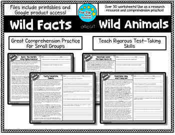 Wild Facts About Wild Animals--Reading Comprehension (Growing Product)
