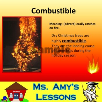 NATURAL DISASTERS: WildFire Vocabulary Terms PowerPoint Presentation