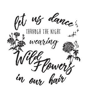 Wild Flowers Quote (Clip Art)