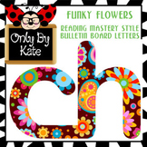 Wild Flowers, Reading Mastery Style Bulletin Board Letters