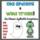 Wild Ghosts! A Closed Syllable Exception Packet