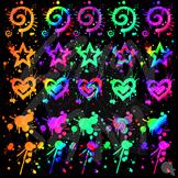 Wild Gradients Paint Splatter Clip Art
