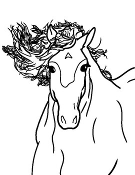 Wild Horse Coloring Page Free Printable By Mae Whitman Tpt