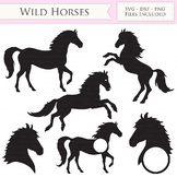 Wild Horses SVG Files - Jumping Horse, Horse head monogram
