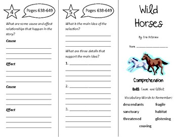 Wild Horses Trifold - Treasures 4th Grade Unit 5 Week 5 (2009)