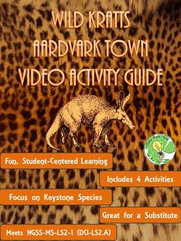 Wild Kratts Aardvark Town- Keystone Species Video Activities