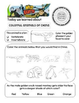 Wild Kratts Colorful Animals of China