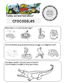 Wild Kratts Mom of a Croc Crocodile Worksheet