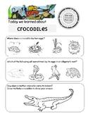 Wild Kratts Mom of a Croc Crocodile Worksheet