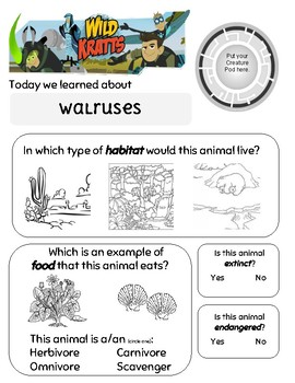 Wild Kratts Mystery of the Weird Looking Walruses