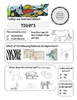 Wild Kratts Temple of the Tigers