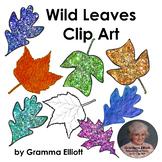 Wild Leaves Clip Art   Maple Oak Tulip Tree