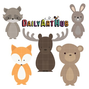 Wild Life Clip Art - Great for Art Class Projects!